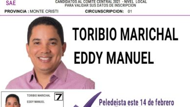 Photo of Eddy Toribio estará en la casilla número del PLD para miembro del CC